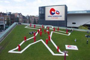 Flashmob op het Museumplein op Wereld Trombose Dag