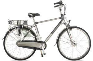 De Cross E-Trendy City N8 elektrische fiets heeft een aluminium frame en heeft een 250W motor.